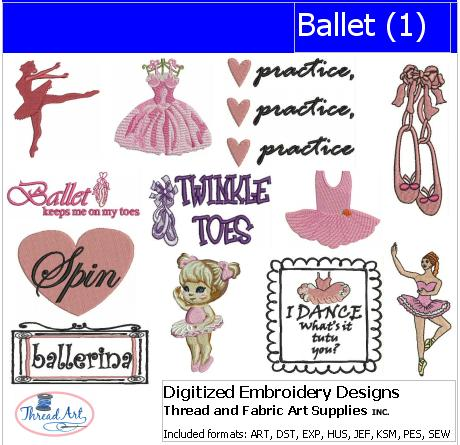 Machine Embroidery Designs - Ballet(1) - Threadart.com