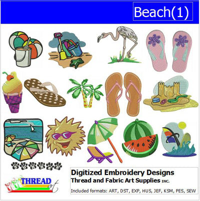 Machine Embroidery Designs - Beach(1) - Threadart.com