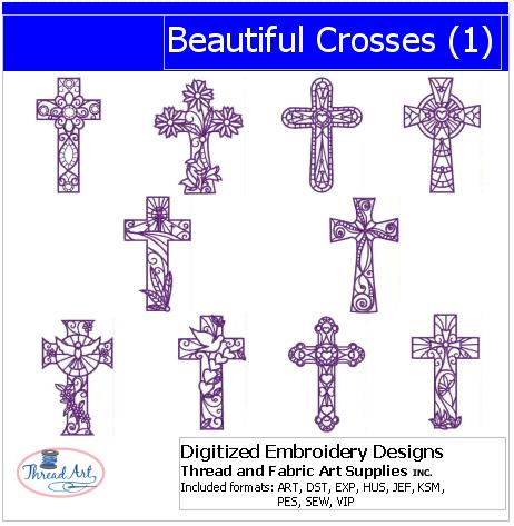 Machine Embroidery Designs - Beautiful Crosses(1) - Threadart.com