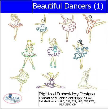 Machine Embroidery Designs - Beautiful Dancers(1) - Threadart.com
