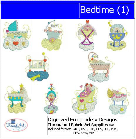 Machine Embroidery Designs - Bedtime(1) - Threadart.com