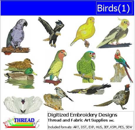 Machine Embroidery Designs - Birds(1) - Threadart.com