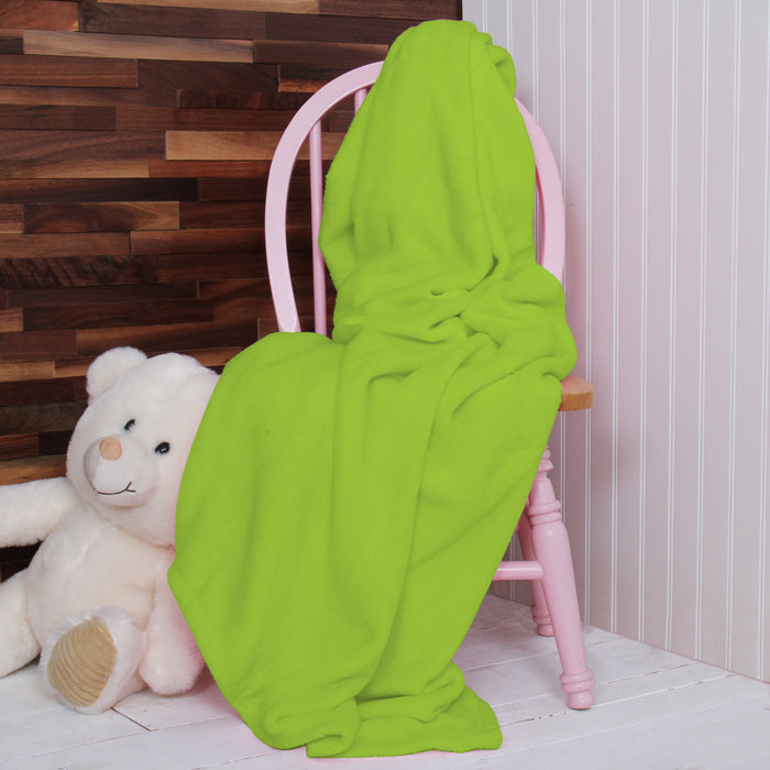 Plush Fleece Blanket - Lime Green - Threadart.com