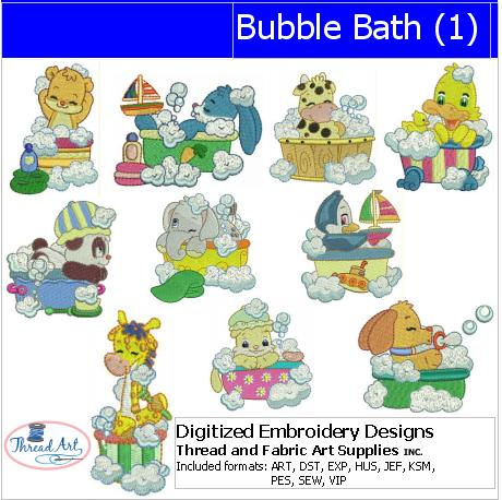 Machine Embroidery Designs - Bubble Bath(1) - Threadart.com