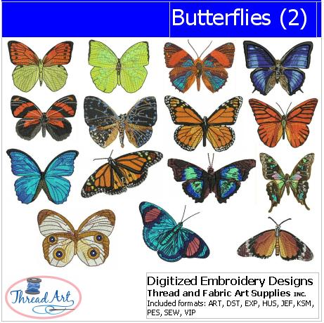 Machine Embroidery Designs - Butterflies(2) - Threadart.com
