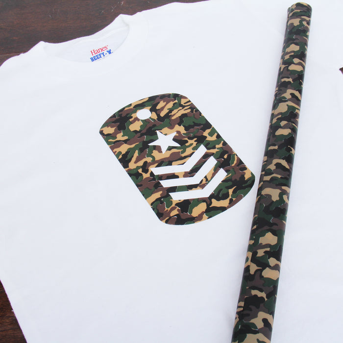 "Camouflage 20"" Heat Transfer Vinyl Film By The Yard - Threadart.com"