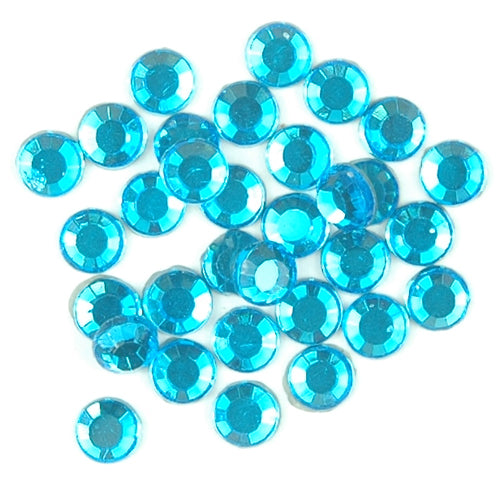 SS6 Capri Blue Rhinestones Bulk 500 Gross - Threadart.com