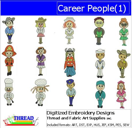 Machine Embroidery Designs - Career People(1) - Threadart.com