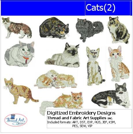 Machine Embroidery Designs - Cats(2) - Threadart.com
