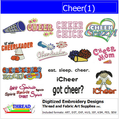 Machine Embroidery Designs - Cheer(1) - Threadart.com
