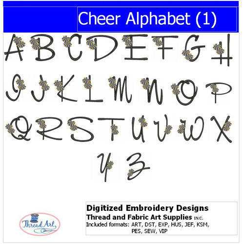 Machine Embroidery Designs - Cheer Alphabet - Threadart.com