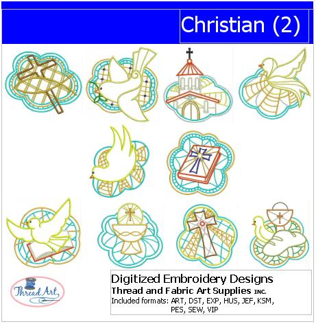 Machine Embroidery Designs - Christian(2) - Threadart.com