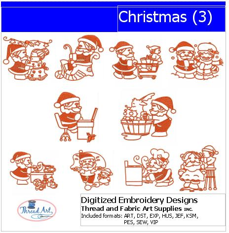 Machine Embroidery Designs - Christmas(3) - Threadart.com