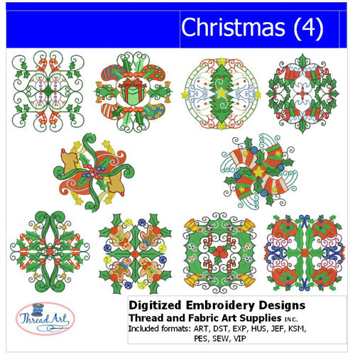 Machine Embroidery Designs - Christmas (4) - Threadart.com