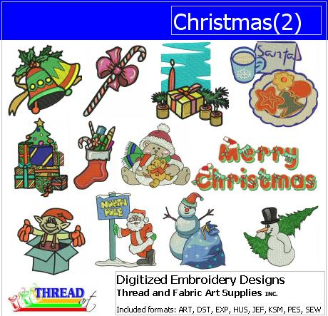 Machine Embroidery Designs - Christmas(2) - Threadart.com