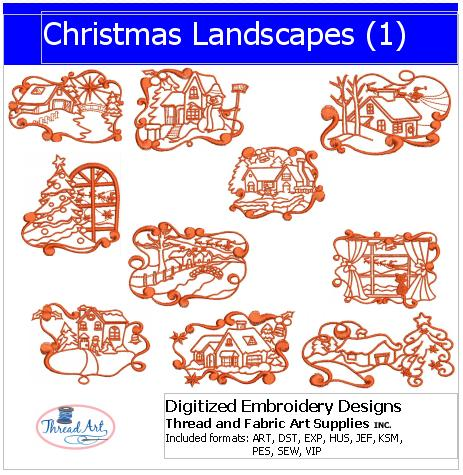 Machine Embroidery Designs - Christmas Landscapes(1) - Threadart.com