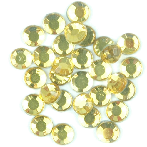 Hot Fix Rhinestones - SS30 - Citrine - 144 stones - Threadart.com
