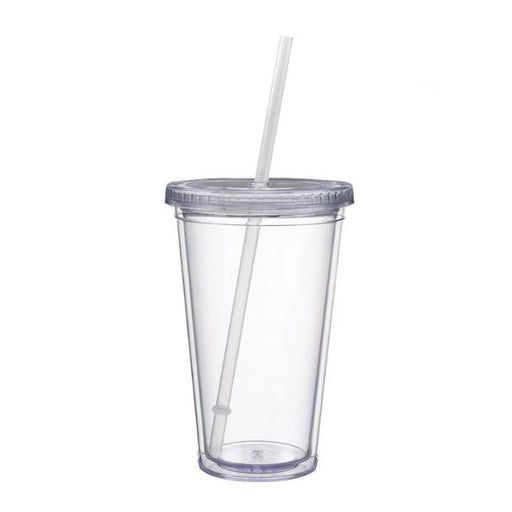Classic Acrylic Cup Tumbler - 16 oz. - Clear - Threadart.com