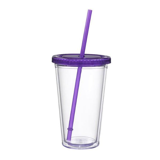 Classic Acrylic Cup Tumbler - 16 oz. - Purple - Threadart.com