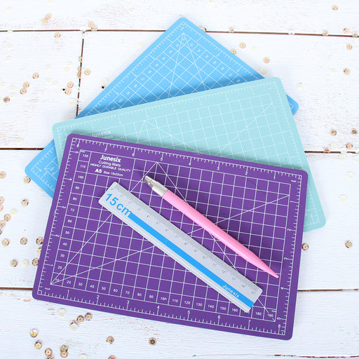 Small Cutting Set - Mat, Ruler, Knife - Threadart.com