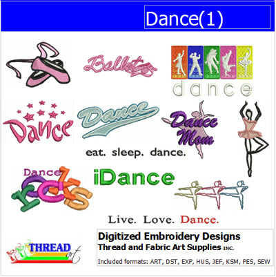 Machine Embroidery Designs - Dance(1) - Threadart.com