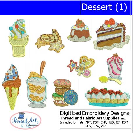 Machine Embroidery Designs - Dessert(1) - Threadart.com