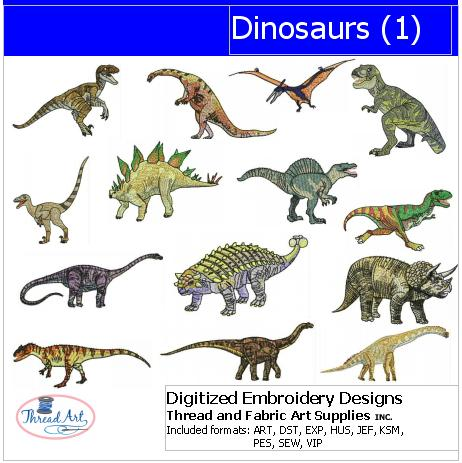 Machine Embroidery Designs - Dinosaurs(1) - Threadart.com