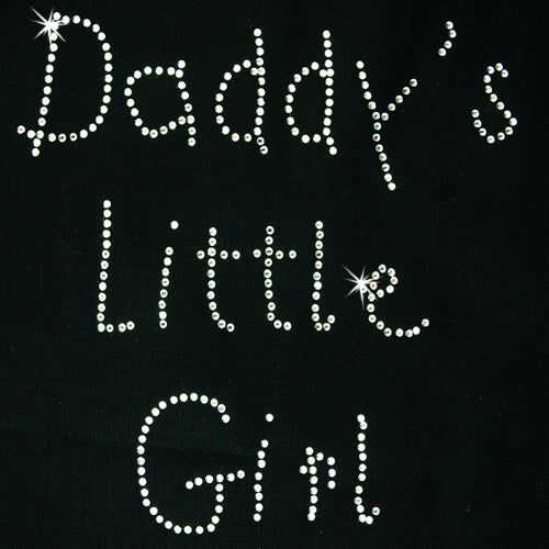Hot Fix Rhinestone Heat Transfer Motif Daddys Little Girl - Threadart.com