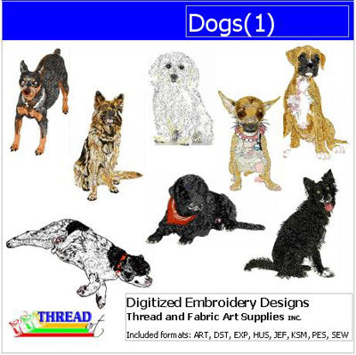 Machine Embroidery Designs - Dogs(1) - Threadart.com