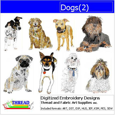 Machine Embroidery Designs - Dogs(2) - Threadart.com