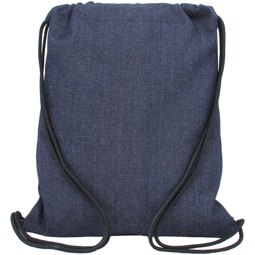 Cotton Drawstring Tote Bag - Denim - Threadart.com