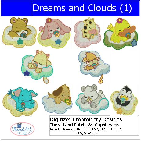 Machine Embroidery Designs - Dreams and Clouds(1) - Threadart.com