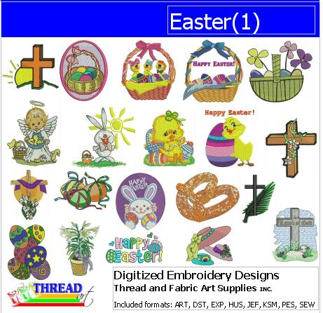 Machine Embroidery Designs - Easter (1) - Threadart.com