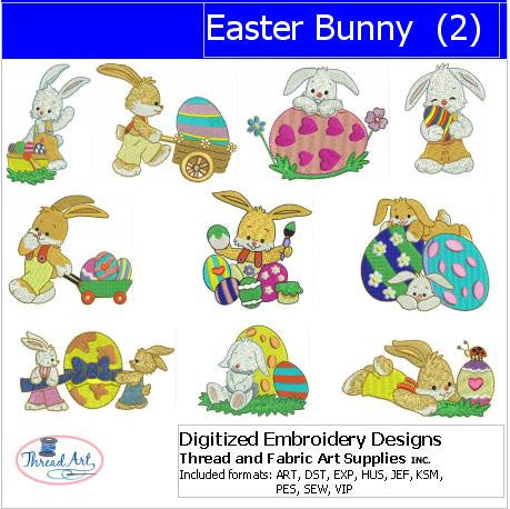 Machine Embroidery Designs - Easter Bunnies(2) - Threadart.com