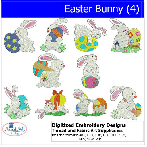 Machine Embroidery Designs - Easter Bunnys(4) - Threadart.com