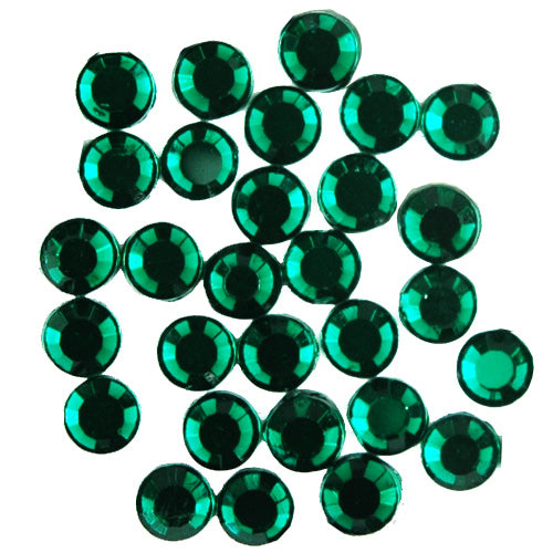 Hot Fix Rhinestones - SS30 - Emerald - 144 stones - Threadart.com