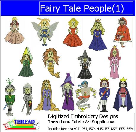 Machine Embroidery Designs - Fairy Tale People - Threadart.com