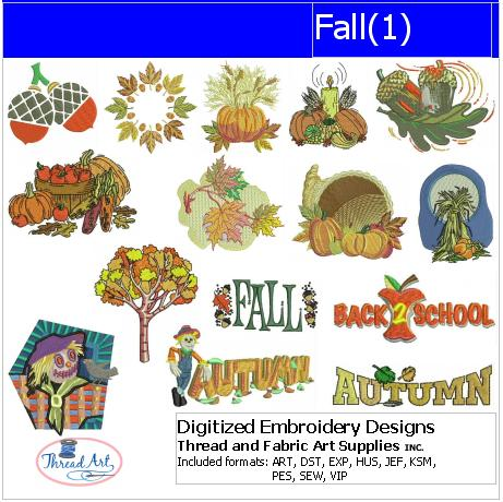 Machine Embroidery Designs - Fall(1) - Threadart.com
