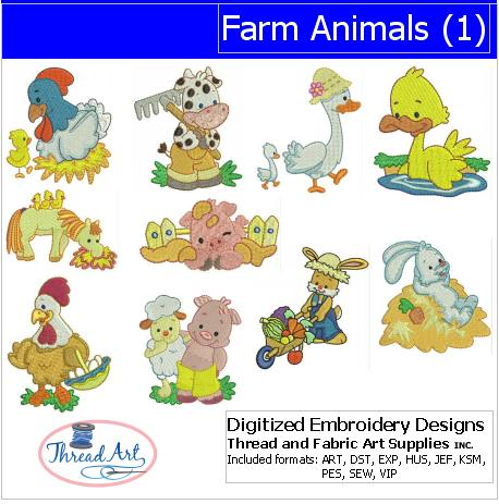 Machine Embroidery Designs - Farm Animals(1) - Threadart.com