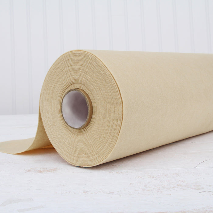 "Cream Felt By The Yard- 36"" Wide - Soft Premium Felt Fabric - Threadart.com"