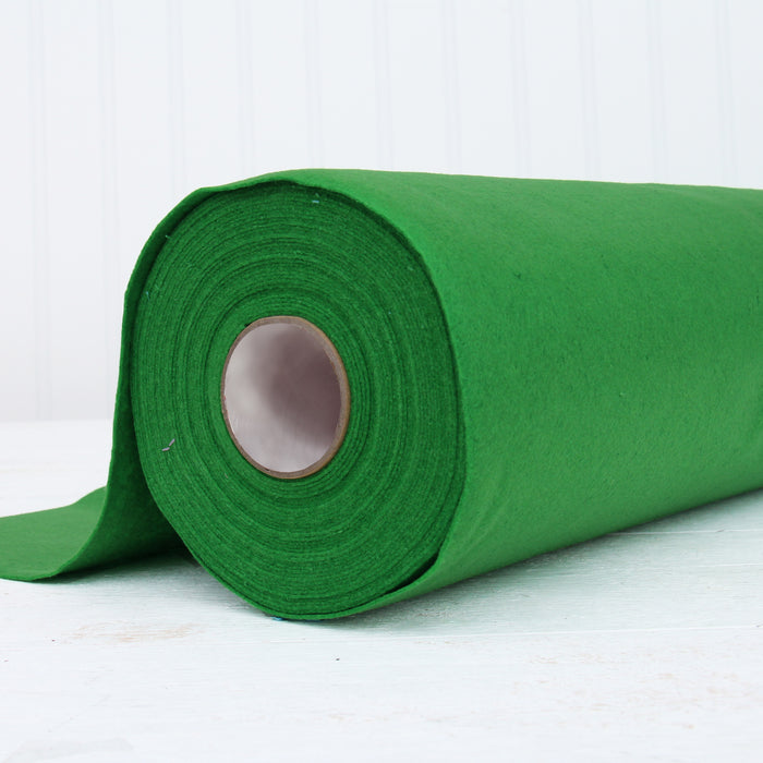 "Green Felt By The Yard - 36"" Wide - Soft Premium Felt Fabric - Threadart.com"