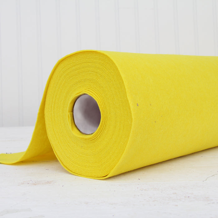 "Yellow Felt By The Yard - 36"" Wide - Soft Premium Felt Fabric - Threadart.com"