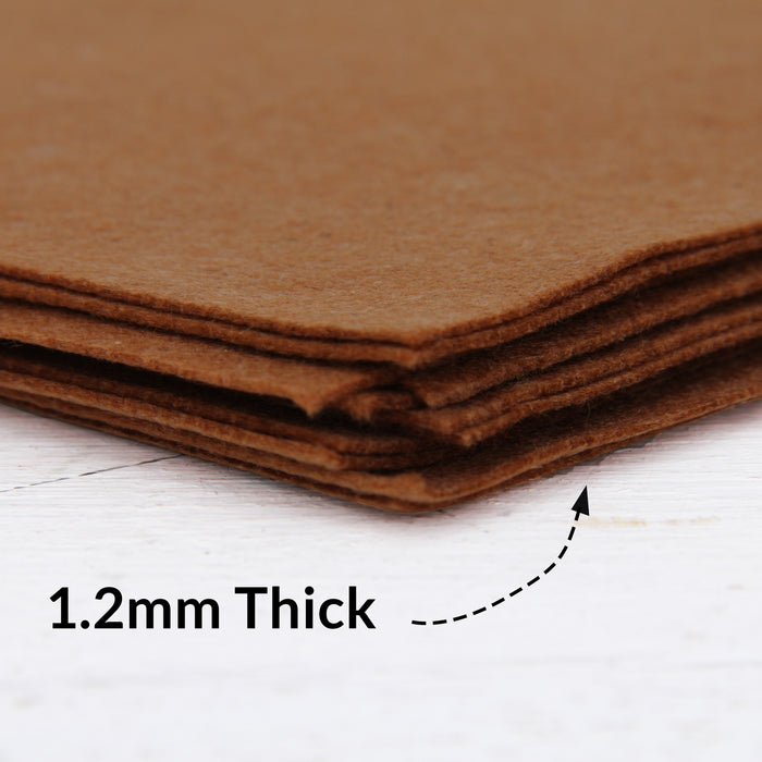 "Brown Felt 12"" x 10 Yard Roll - Soft Premium Felt Fabric - Threadart.com"