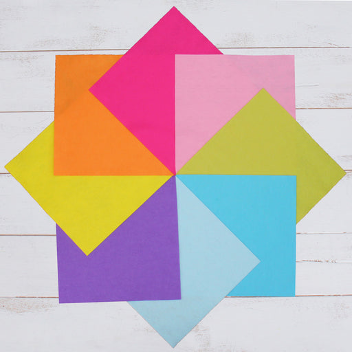 "Premium Felt Fabric Variety Pack - 8 Different Confetti Colors - 12"" x 12"" Sheets - Threadart.com"