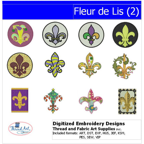 Machine Embroidery Designs - Fleur de Lis(2) - Threadart.com