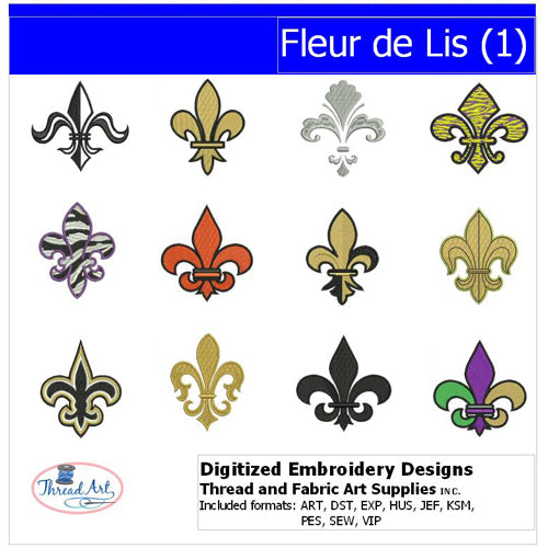 Machine Embroidery Designs - Fleur de Lis(1) - Threadart.com