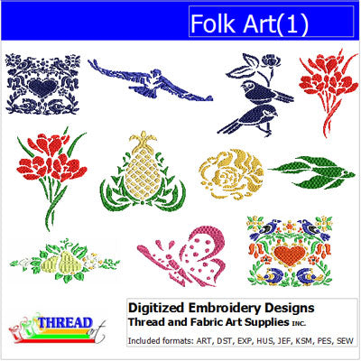 Machine Embroidery Designs - Folk Art(1) - Threadart.com
