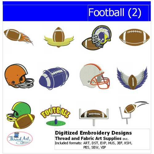 Machine Embroidery Designs - Football(2) - Threadart.com