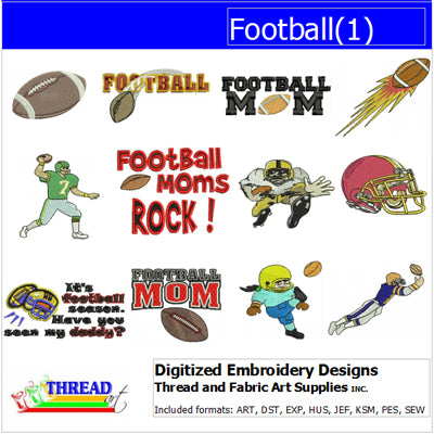 Machine Embroidery Designs - Football(1) - Threadart.com