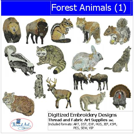 Machine Embroidery Designs - Forest Animals(1) - Threadart.com